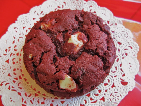 Red Velvet White Chocolate Cookies 1 dozen