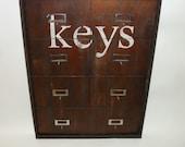Vintage Style  Hotel  Key Rack