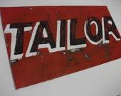 Handpainted, vintage inspired,  Metal Store Sign