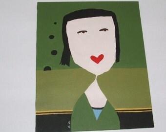 SALE Love Girl Painting
