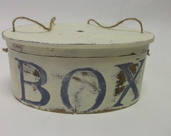 SALE Rustic Hand painted Distressed Vintage Shaker Box