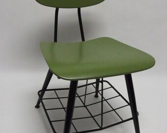 Mid Century Eames Era Bent Wood School Chair