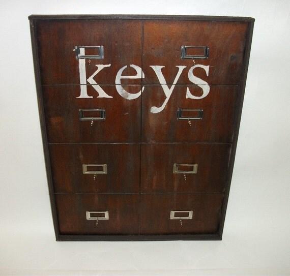 Vintage style hotel key rack - Vintage hotel key rack ...