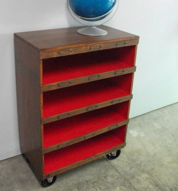 Deconstructed Reconstructed Vintage rolling Cabinet