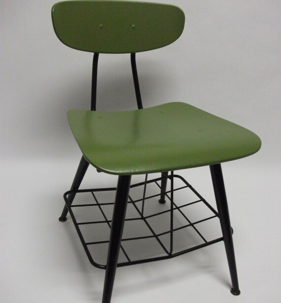 SALE Mid Century Eames Era Bent Wood School Chair