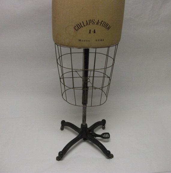 Vintage Rolling Cage Dress Form Model 1961