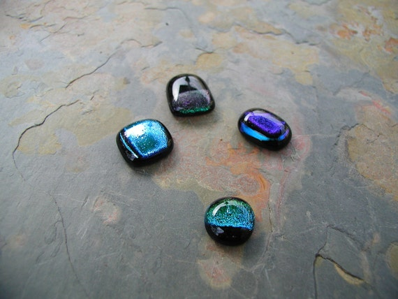 Dichroic Cabachons Mixed Sizes - SALE 1/2 Off