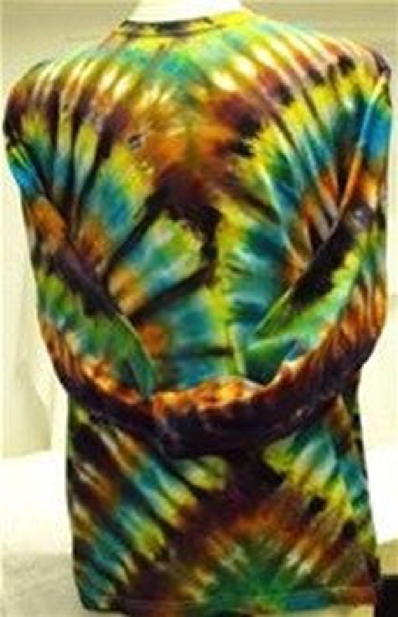 2XL adult long sleeve tie dye