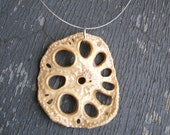 Lotus Root Necklace - Food Jewelry  - Vegetable Jewelry