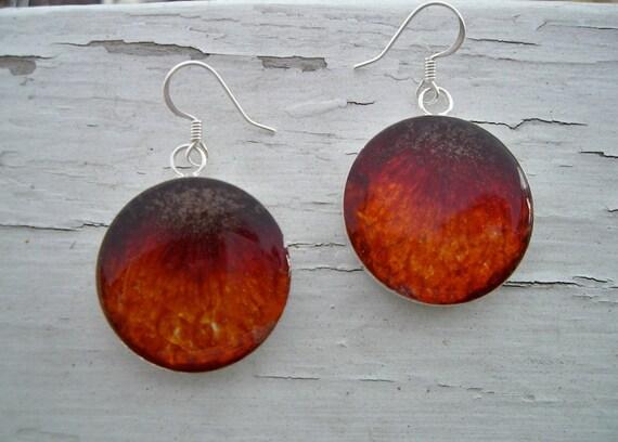SALE Plum Earrings - Fruit Jewelry