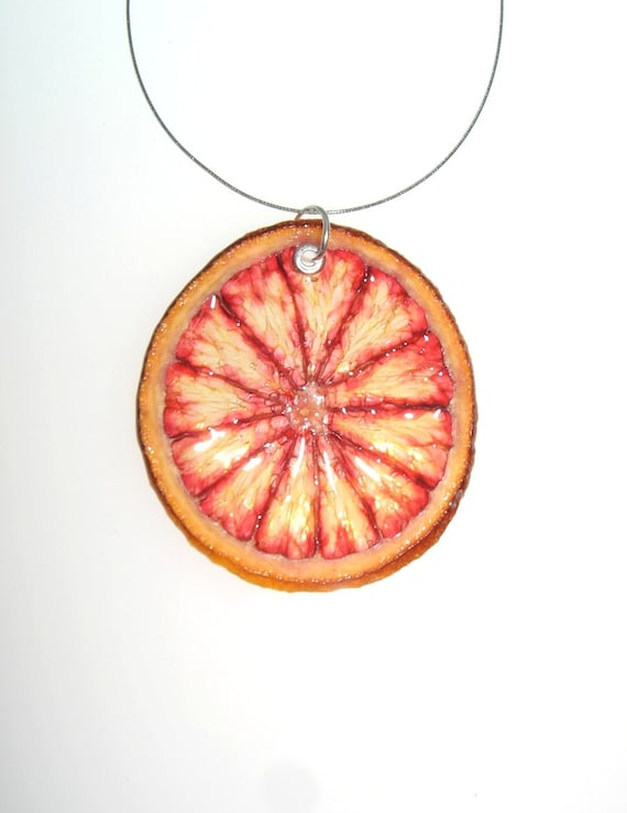Blood Orange Necklace - Fruit Jewelry