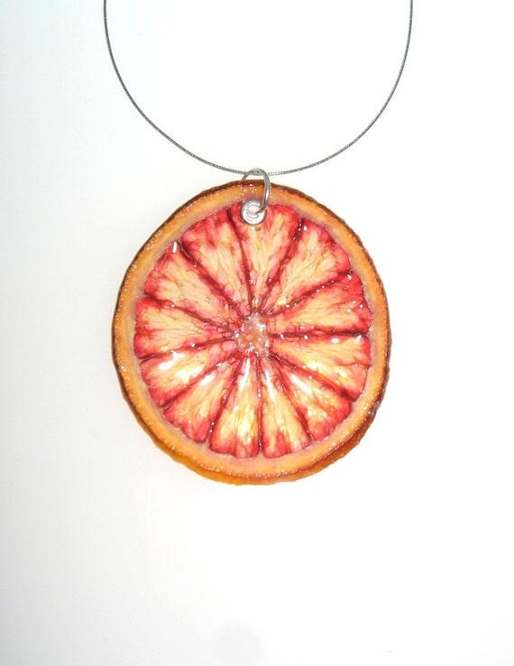 Blood Orange Necklace - Fruit Jewelry