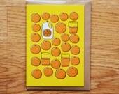 OJ Greeting Card