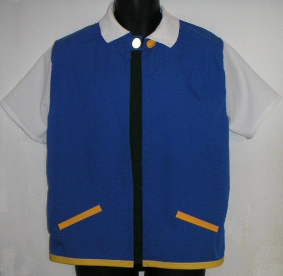 Ash Ketchum Trainer Costume Jacket Pokemon  Adult XL