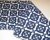 """18"""" x 8"""" Large Hot Cold Therapy Wrap-  Preppy Blue and White Terry"""