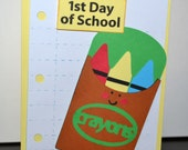 Ist Day of School Card