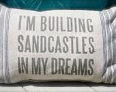 Sandcastles Burlap like Pilow