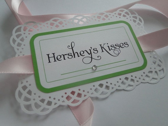 Custom Lace Jar Labels for Candy or Dessert Bar
