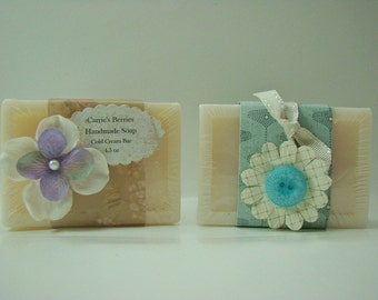 Handmade Cold Cream Bar of Soap
