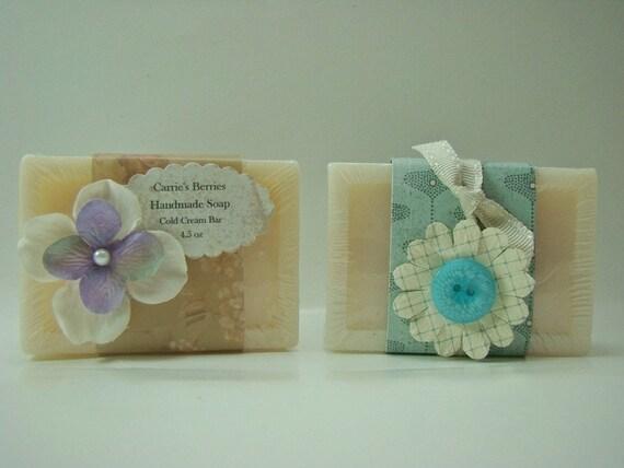 Handmade Cold Cream Bar of Soap