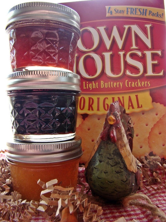4oz Jam Trio--All Natural and Vegan--Great Housewarming Gift