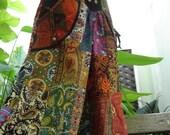 Thai Cotton PATCHWORK Boho Gypsy Wide Legged pants - 0103
