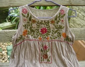 Sleeveless Bohemian Embroidered Top in Rosy Brown
