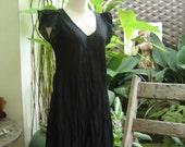 Lovely Cotton Long Blouse - Black