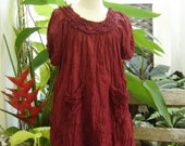 Lovely Cotton Blouse - Red Wine