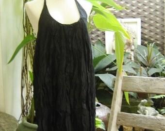 Summer Ruffles Dress - Black
