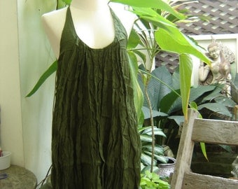 Summer Ruffles Dress - Olive