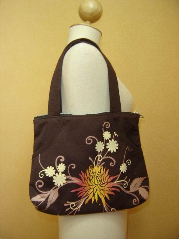 Printed Cotton Shoulder/ Hand Bag I