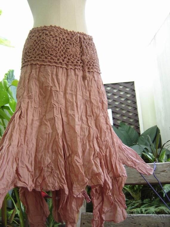 Tinkerbell Cotton Skirt in SALMON