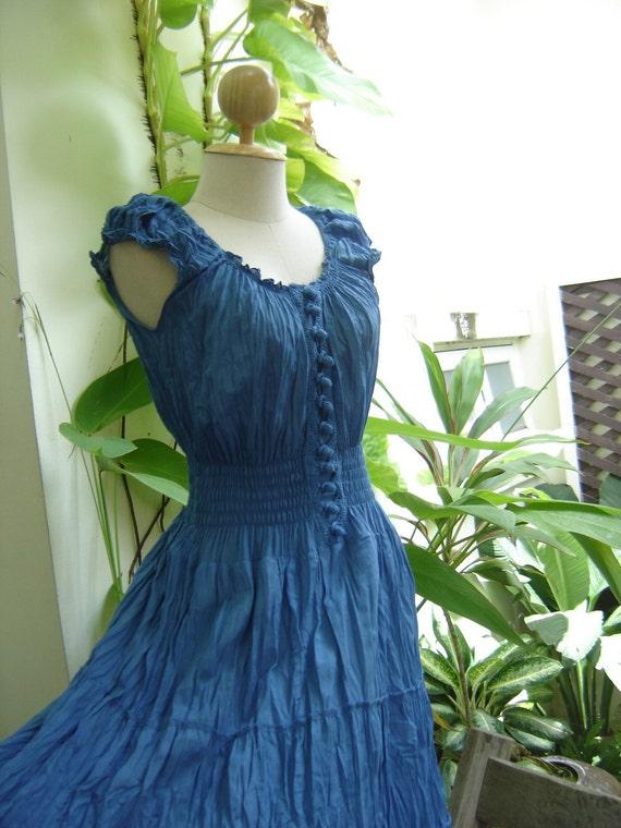 Princess Cotton Dress - Blue