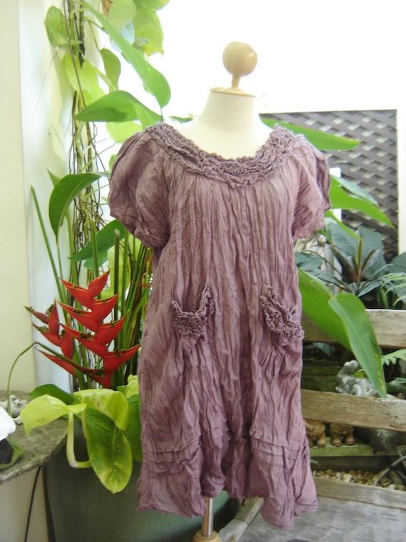 Lovely Cotton Blouse - Soft Purple