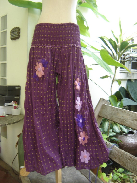 Nothing to Worry About Pants - Polka Dots - Purple
