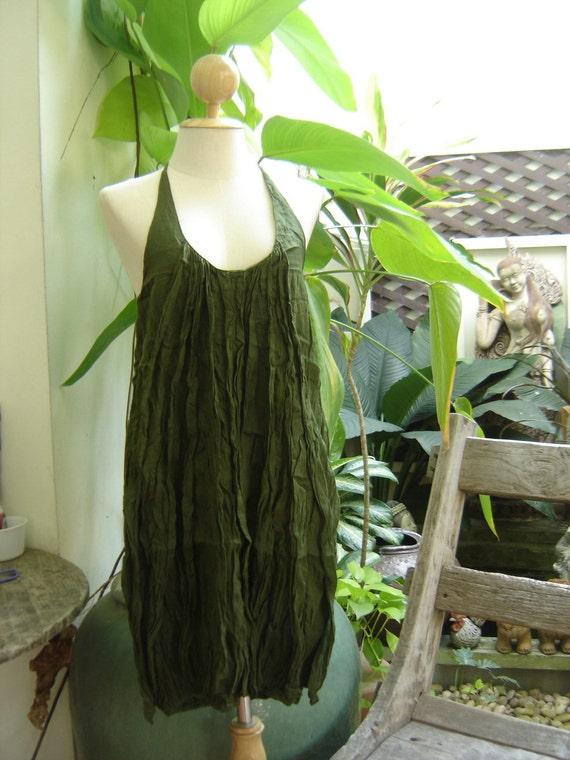 Summer Ruffles Dress - Olive