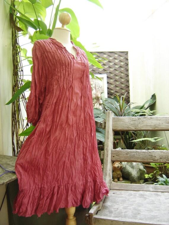 Comfy Cotton Tunic - Blush Pink