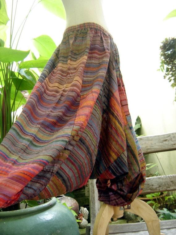 Woven Cotton Comfy Roomy Pants DM04-02