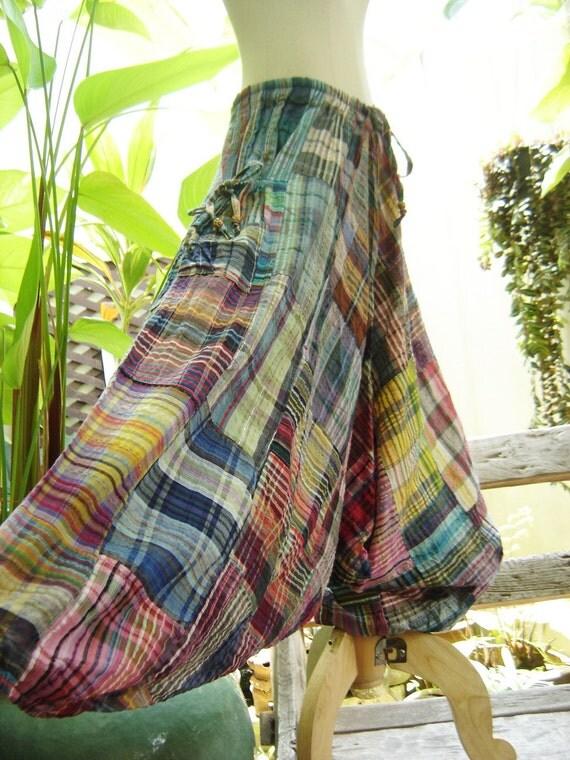 Woven Cotton Comfy Roomy Pants - WM04-02
