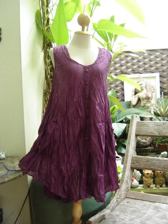 Sleeveless Cotton Top II - Purple