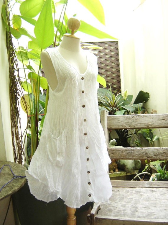 Sleeveless Cotton Tunic II - White