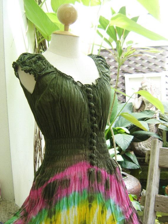 Princess Tie Dyed Cotton Dress - G0601
