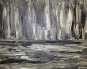 Huge Original Abstract Black and White Art Painting by Jessicabstract on Etsy