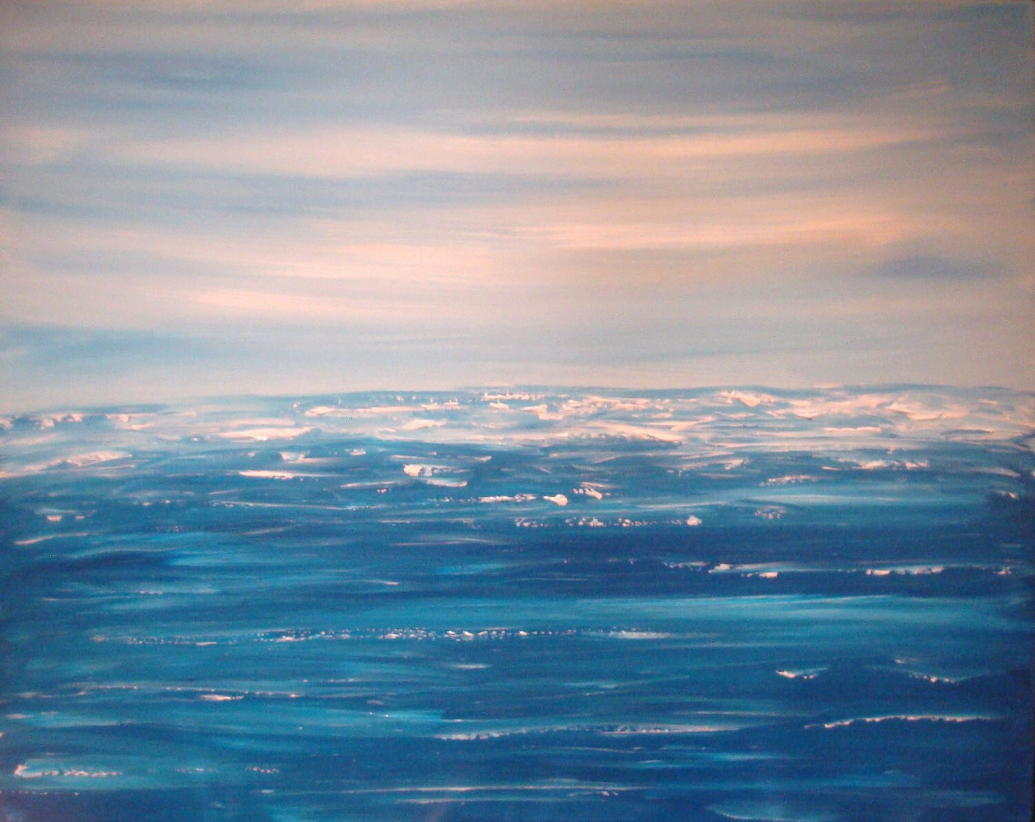 Large Original Textured Abstract Art Seascape Ocean Painting