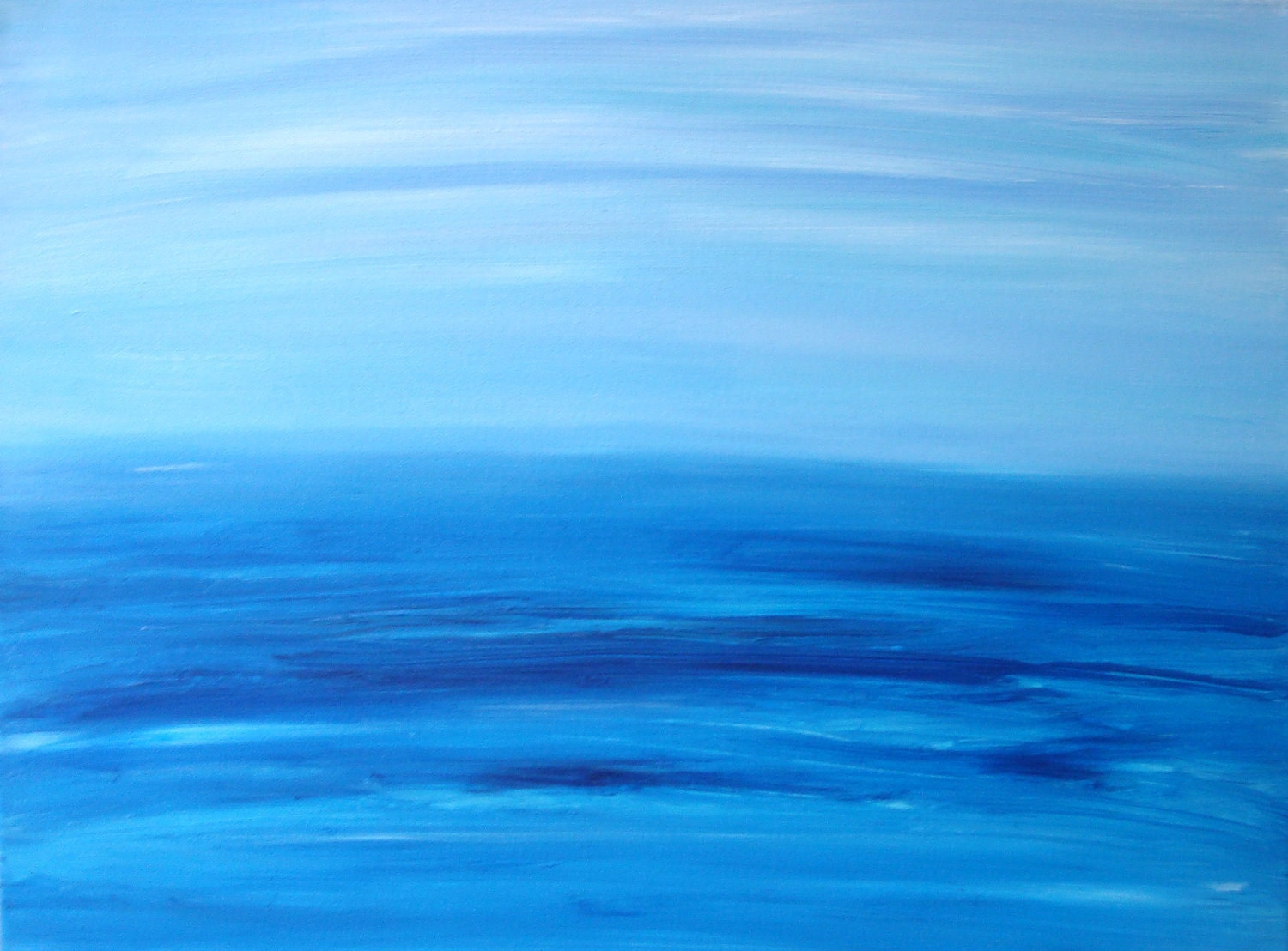 Art Sale Large Original Abstract Art Water Seascape Ocean