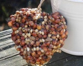 25 natural bird seed heart garden wedding favors baby shower favors or birthday party favors