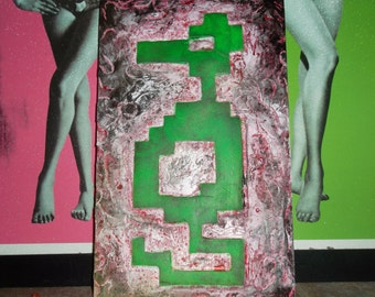 Atari, arcade art, videi game art, ganeroom wall art, Adventure, Dragon, wooden wallart, carved art, wall sculpture, MADE TO ORDER
