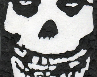 Misfits skull, Crimson ghost,  carved wooden wall art, gifts for teens, wood sign, horror art,                              MADE TO ORDER