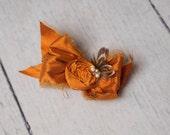 Silk Bow on Alligator Clip Christmas Sale